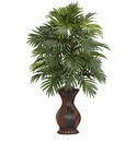 "37"" Areca Palm with Decorative Urn Silk Plant"