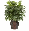 "38"" Areca Palm in Decorative Vase Silk Plant"