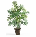 "38"" Areca Palm with Wicker Basket Silk Plant"