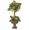 Artichoke Topiary Silk Flower Arrangement