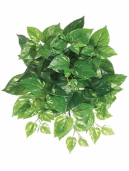 "17"" Artificial Silk Pothos Hanging Bush - Set of 12"