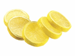 "Artificial 2"" Lemon Slices (5 ea./bag) 24 bags  Yellow"