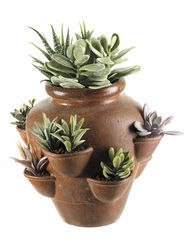 Artificial Cactus Garden in Terra Cotta Pot