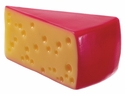 Artificial Cheese Wedge with Red Coating - Set of 24