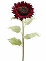 Artificial Giant Silk Sunflower Spray Stem - Set of 12