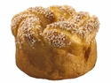 Artificial Natural Soft-Touched Twist Bread with Sesame - Set of 12