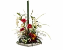 Artificial Protea/Anthurium/Dendrobium Arrangement in Plate