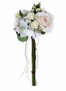 "18"" Artificial Rose and Japonica Flower Bouquets - Set of 4"