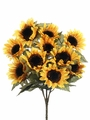 "Artificial Silk 19"" Sunflower Bush Arrangement - Set of 6"