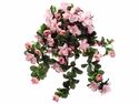 "Artificial Silk 29"" Water-Resistant Azalea Hanging Bush with 10 stems - Set of 6 - Pink"