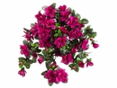 "Artificial Silk 29"" Water-Resistant Azalea Hanging Bush with 10 stems - Set of 6 (shown in cerise)"
