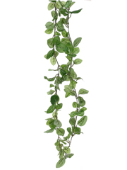 6' Artificial Fittonia Garland Vine with 132 Leaves - Set of 12