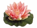 Artificial Silk Floating Water Lily Flower - Set of 24