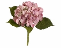 Artificial Silk Hydrangea Stems - Set of 12 (shown in pink)