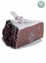 Artificial Sliced Chocolate Cake with Holly in Acetate Box - Set of 12