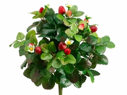 "1 Dozen - Artificial Strawberry Bushes 16"" Height"