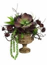 Artificial Succulent Arrangement in Urn - 18""