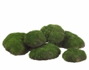 "Assorted Artificial 3"" & 4"" Moss Buns - 6 bags each contains 6 buns"