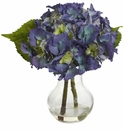 Blooming Hydrangea w/Vase Arrangement