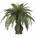 Boston Fern w/Urn Silk Plant