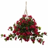 Bougainvillea Hanging Silk Flower Basket UV Resistant (Indoor/Outdoor)