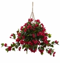 "28"" (Indoor/Outdoor) Bougainvillea Hanging Flower Basket UV Resistant"