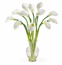 Calla Lilly Liquid Illusion Silk Flower Arrangement