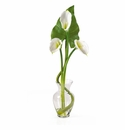 Calla Lilly Liquid Illusion With Leaf Silk Flower Arrangement