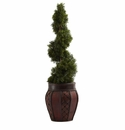 Cedar Spiral w/Decorative Planter