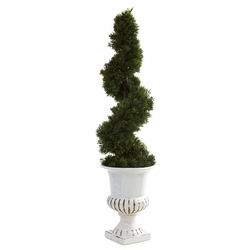 "31"" Cedar Spiral with Urn (Indoor/Outdoor)"