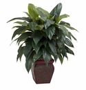 "35"" Cordyline with Decorative Vase Silk Plant"
