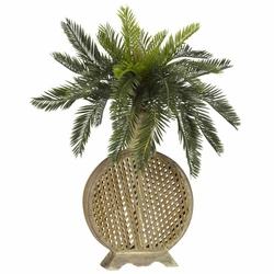 Cycas w/Decorative Vase Silk Plant