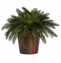 "22"" Cycas with Octagon Vase Silk Plant"