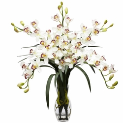 "31"" Cymbidium Orchid Silk Flower Arrangement"