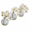 Cymbidium w/Vase  Silk Flower Arrangement (Set of 3)