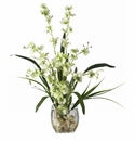 "19"" Dancing Lady Orchid Liquid Illusion Silk Flower Arrangement"