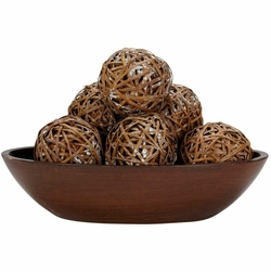 Decorative Woven Balls (Set of 6)