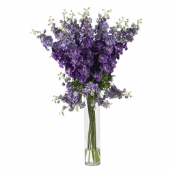 "38"" Tall Delphinium Silk Flower Arrangement in Purple"