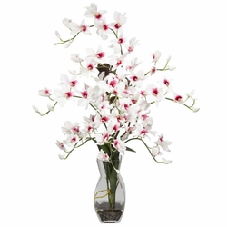 "29"" Dendrobium w/Vase Silk Flower Arrangement"