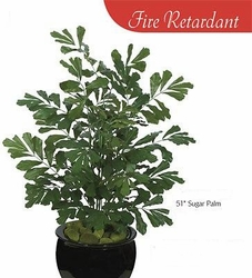 "Fire Retardant 51"" Artificial Sugar Palm Plants  - Set of 4"