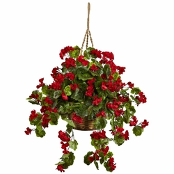 "28"" Geranium Hanging Basket UV Resistant (Indoor/Outdoor)"