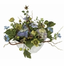 "14"" Petite Artificial Hydrangea Centerpiece Arrangement"