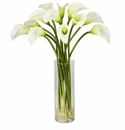 "20"" Mini Calla Lily Silk Flower Arrangement - Cream"