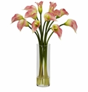 "20"" Mini Calla Lily Silk Flower Arrangement - Pink"