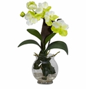 "24"" Mini Vanda w/Fluted Vase Silk Flower Arrangement"