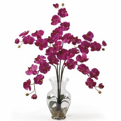 "31"" Phalaenopsis Liquid Illusion Silk Flower Arrangement - Beauty Color"