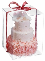 Pink Artificial 3 Tier Cake - Set of 8 - Individually Boxed