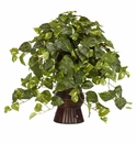 "28"" Pothos with Bamboo Vase Silk Plant"
