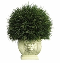 Potted Grass in White Vase (Indoor/Outdoor)