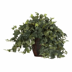 "21"" Puff Ivy Arrangement with Decorative Vase Silk Plant"